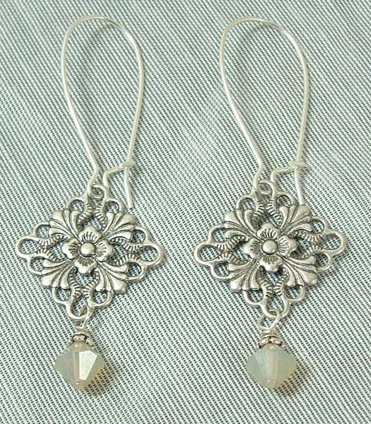 Filligree Crystal Earrings