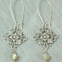 Filligree Crystal Earrings