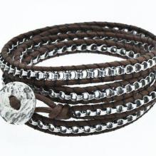 Silver chain wrap