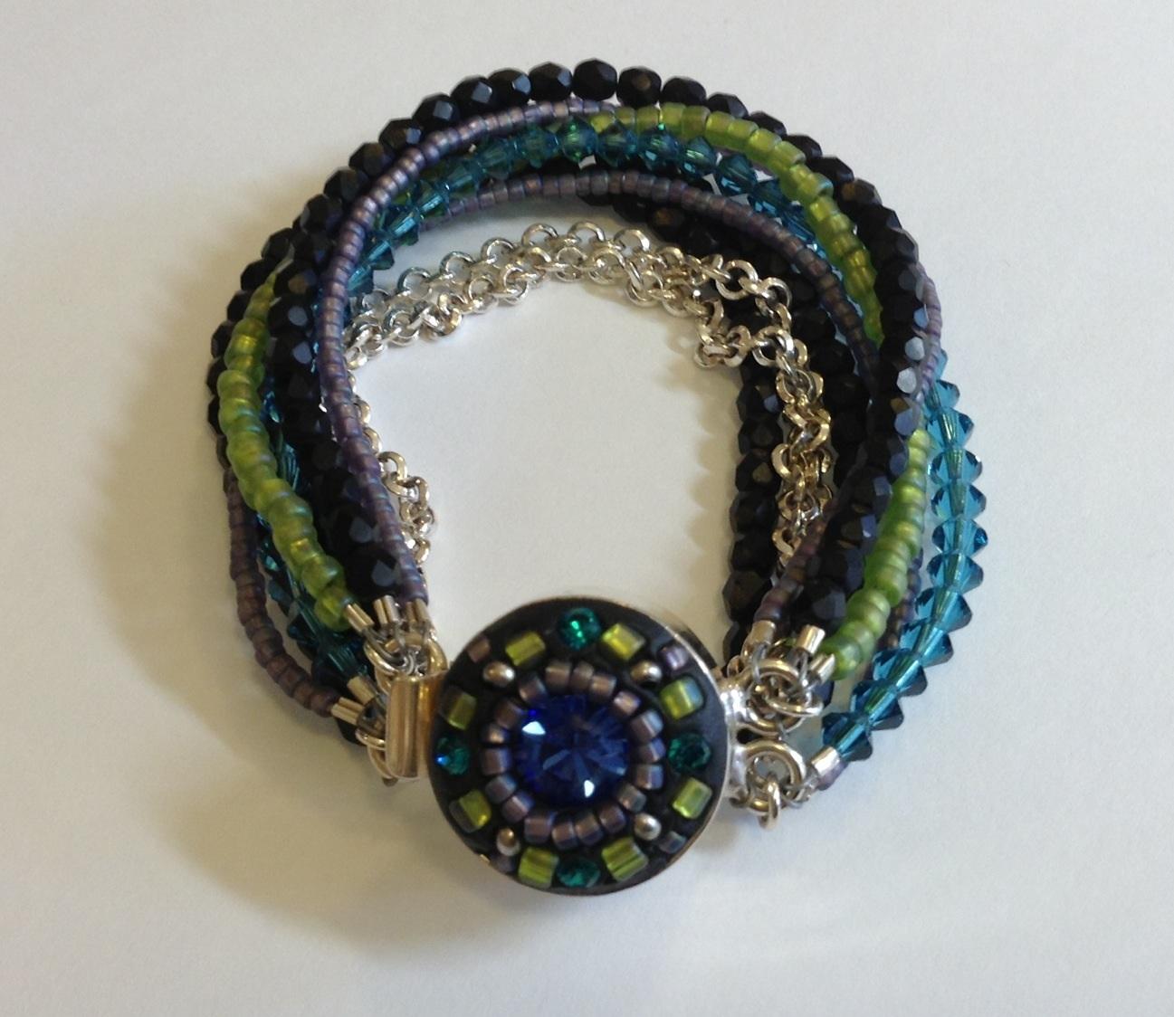 Crystal Clay Bracelet