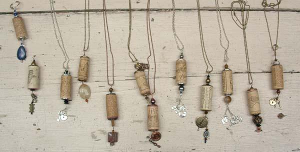 students cork necklaces