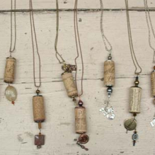 students cork necklaces