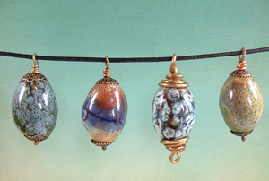 Enamel pendants by Joann Hass