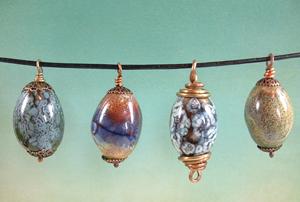 Enamel pendants by Joann Hass