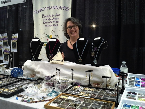 Funky Amanda at our booth in Madison last year.