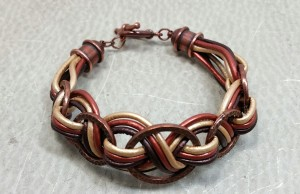 Free Friday!  Leather Braid Bracelet