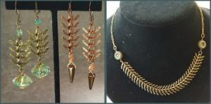 fish bone & leather